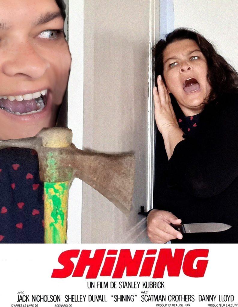 affiche faite maison du film Shining
